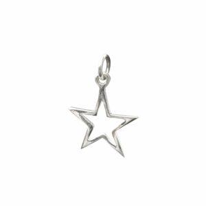 Silberanhänger Stern glatt