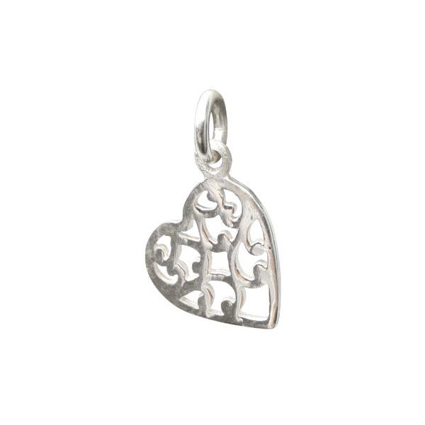 Silberanhänger durchbrochenes Herz