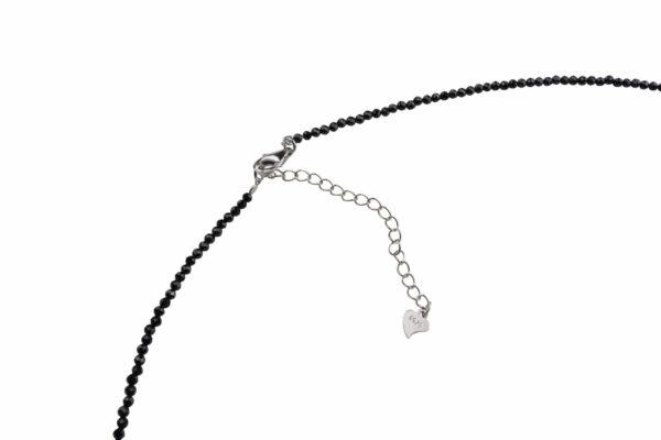 Sehr schmale Spinellkette, 42-45 cm mit Silberverschluss verstellbar