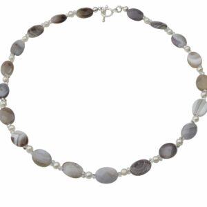 Achat Perlenkette